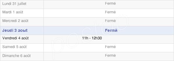 horaires d'ouverture de la Mairie De Lor