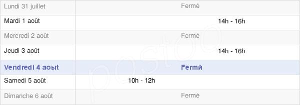 horaires d'ouverture de la Mairie De Lappion