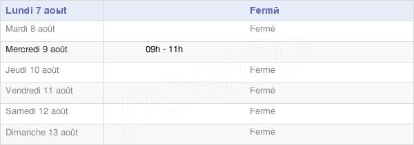 horaires d'ouverture de la Mairie D'Archon