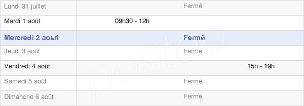 horaires d'ouverture de la Mairie D'Ugny-Le-Gay