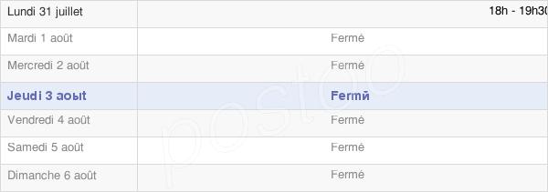 horaires d'ouverture de la Mairie De Amifontaine