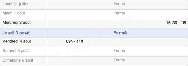 horaires d'ouverture de la Mairie De Beaumé