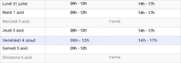horaires d'ouverture de la Mairie D'Hargicourt
