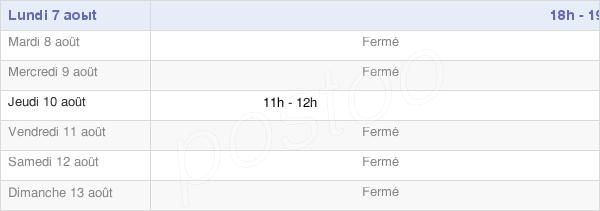 horaires d'ouverture de la Mairie De Cuirieux