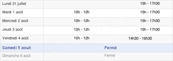 horaires d'ouverture de la Mairie De Vaux-Andigny