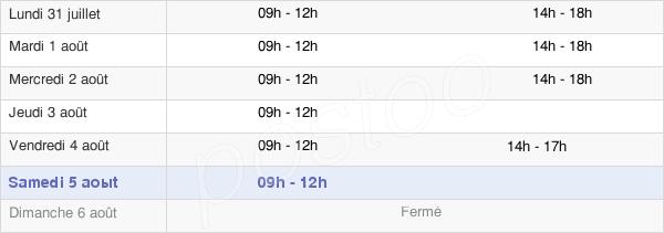 horaires d'ouverture de la Mairie D'Essômes-Sur-Marne