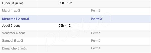 horaires d'ouverture de la Mairie De Erloy