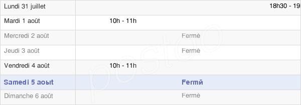 horaires d'ouverture de la Mairie De Presles-Et-Boves