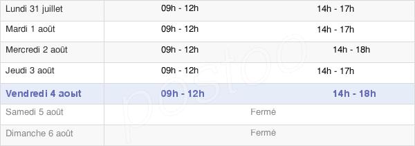 horaires d'ouverture de la Mairie De Gramat