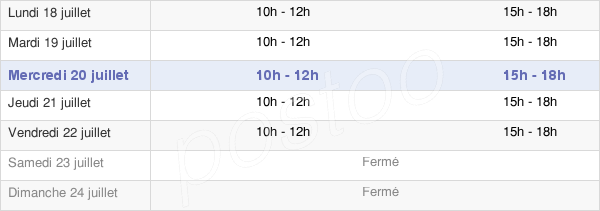 horaires d'ouverture de la Mairie De Flavy-Le-Martel