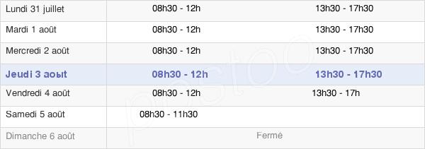 horaires d'ouverture de la Mairie De Guise