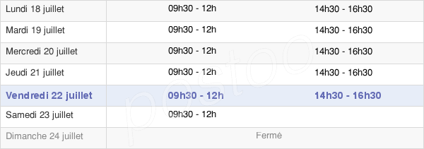 horaires d'ouverture de la Mairie De Fère-En-Tardenois