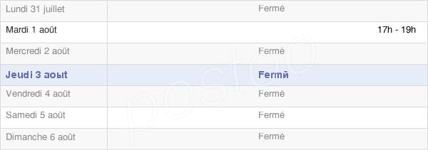 horaires d'ouverture de la Mairie De Nanteuil-La-Fosse