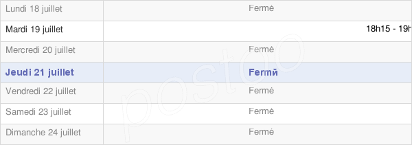 horaires d'ouverture de la Mairie De Cerny Les Bucy