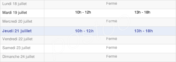 horaires d'ouverture de la Mairie De Prémontré
