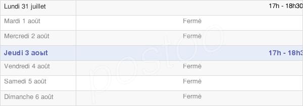 horaires d'ouverture de la Mairie De Bouffignereux
