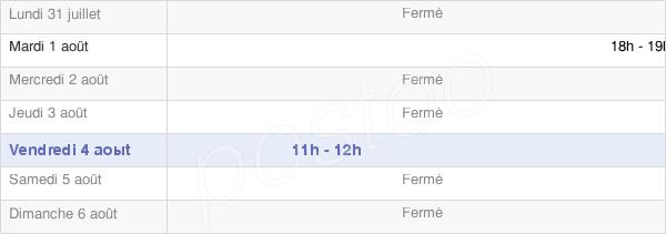 horaires d'ouverture de la Mairie De Pontavert