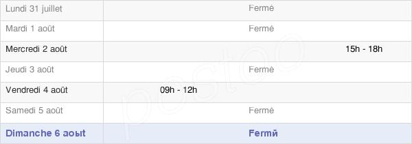 horaires d'ouverture de la Mairie De Valroufié