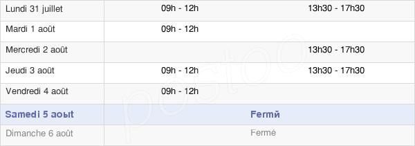 horaires d'ouverture de la Mairie De Chambry