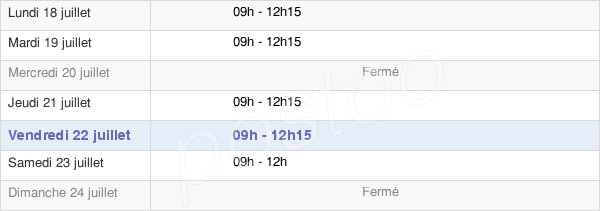 horaires d'ouverture de la Mairie De Nauroy