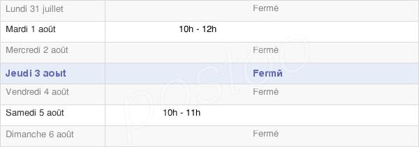 horaires d'ouverture de la Mairie De Vassogne
