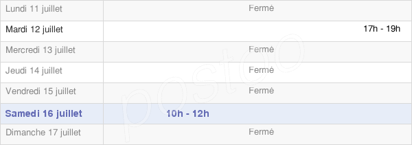 horaires d'ouverture de la Mairie De Terny Sorny