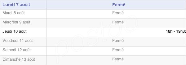 horaires d'ouverture de la Mairie De Fressancourt