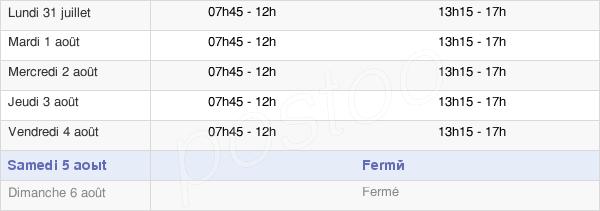 horaires d'ouverture de la Mairie D'Athies-Sous-Laon