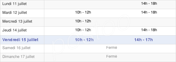horaires d'ouverture de la Mairie D'Essigny-Le-Grand