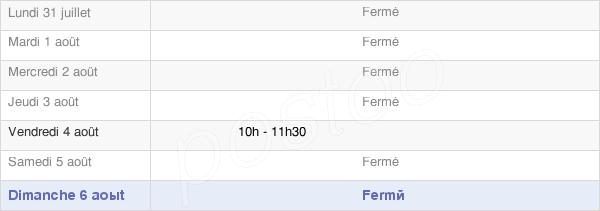horaires d'ouverture de la Mairie De Blanzy-Lès-Fismes
