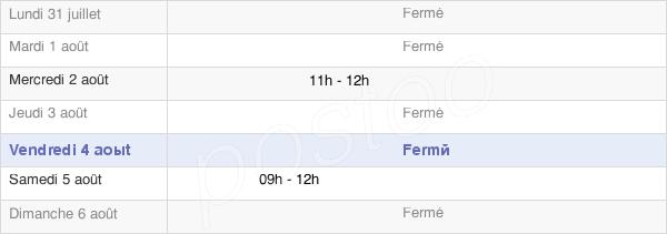 horaires d'ouverture de la Mairie De Brécy