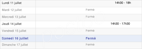 horaires d'ouverture de la Mairie De Juvincourt-Et-Damary