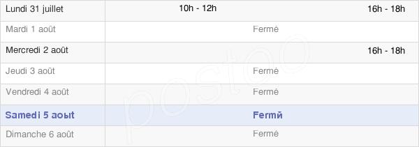 horaires d'ouverture de la Mairie De Chaillevois