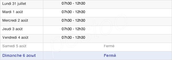 horaires d'ouverture de la Mairie De La Flamengrie