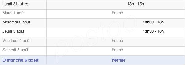 horaires d'ouverture de la Mairie De Besny-Et-Loizy