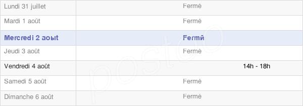 horaires d'ouverture de la Mairie De Vendresse-Beaulne