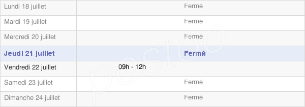 horaires d'ouverture de la Mairie De Lanchy