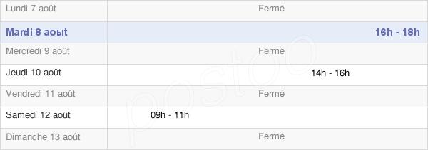 horaires d'ouverture de la Mairie De Domptin