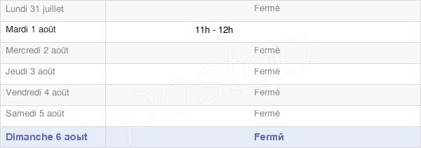 horaires d'ouverture de la Mairie De Hinacourt