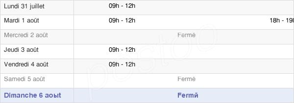 horaires d'ouverture de la Mairie De Levergies