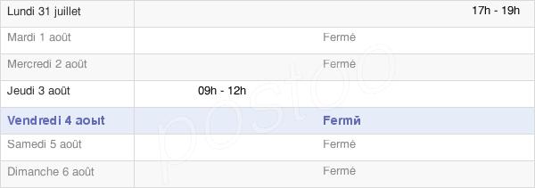 horaires d'ouverture de la Mairie De Germaine