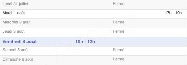 horaires d'ouverture de la Mairie De Mezieres-Sur-Oise