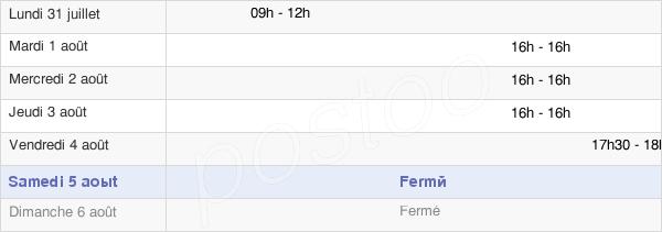 horaires d'ouverture de la Mairie De Parfondru