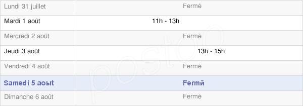horaires d'ouverture de la Mairie De Vendières