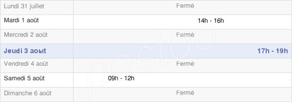 horaires d'ouverture de la Mairie De Mont-Saint-Père