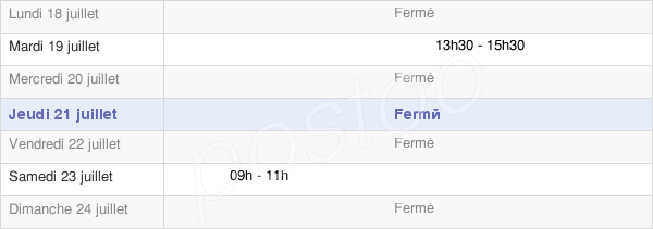 horaires d'ouverture de la Mairie De Villers-Agron-Aiguizy