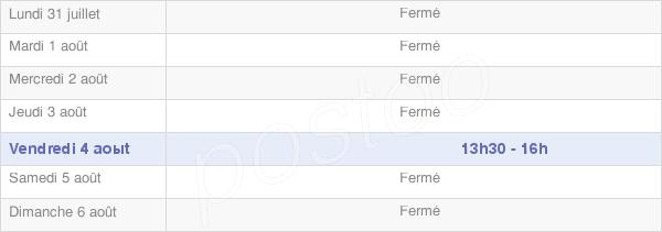horaires d'ouverture de la Mairie De Surfontaine