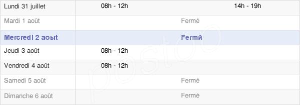 horaires d'ouverture de la Mairie De La Ville-Aux-Bois-Lès-Pontavert