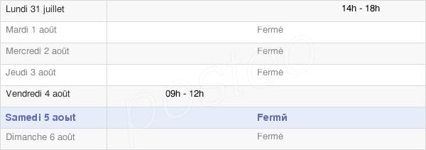 horaires d'ouverture de la Mairie De Jouaignes