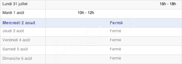 horaires d'ouverture de la Mairie De Sommette-Eaucourt
